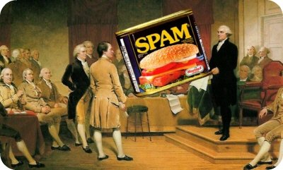 The founding fathers managed Spam